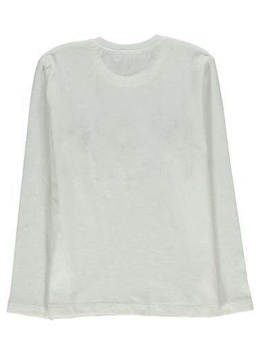 Morhipo Kids Uzun Kol  Baskılı T-shirt Ekru